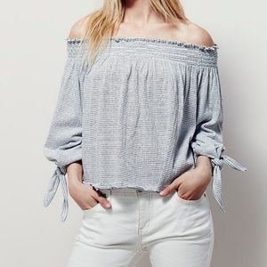 Free People >> Lexington Striped Off-the Shoulder